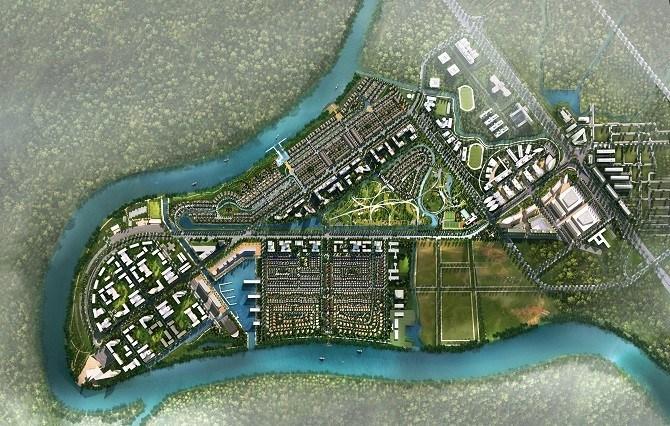 Dự án Waterpoint (Long An) với hình ngón tay cái phong thủy hứa hẹn sẽ thúc đẩy thị trường bất động sản Long An sôi động hơn nữa.