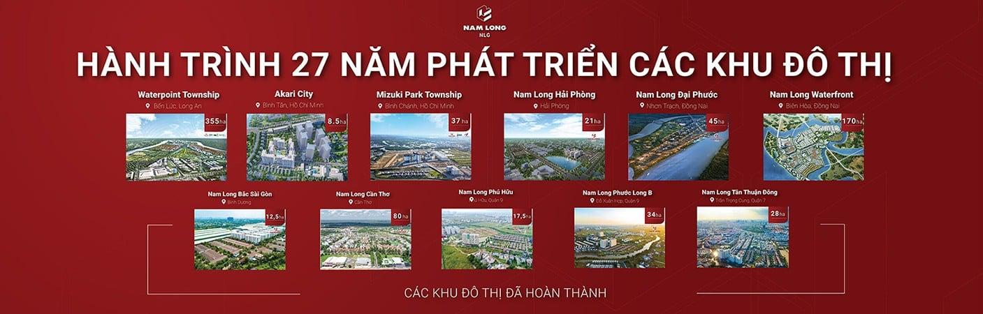 Những dự án Nam Long Group đã triển khai.