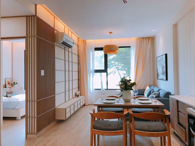 Phong cách thiết kế căn hộ với gam màu nhẹ nhàng cho giới trẻ.