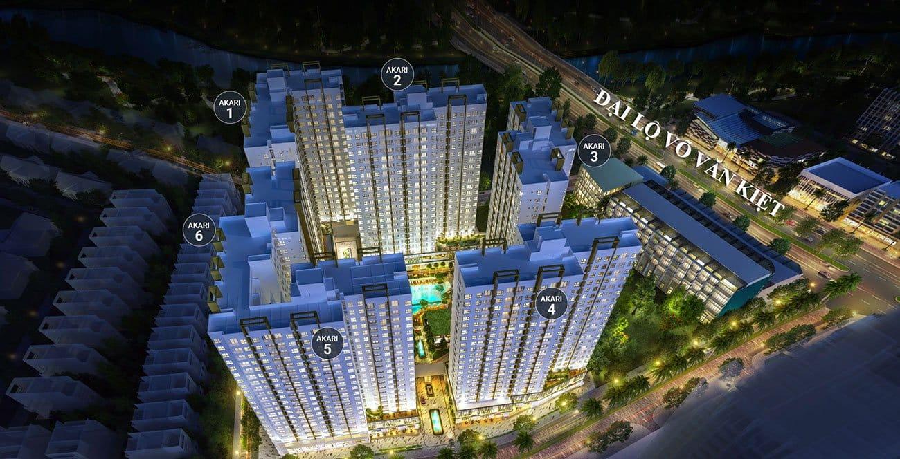 Mặt bằng Phase 1 của khu đô thị Akari.