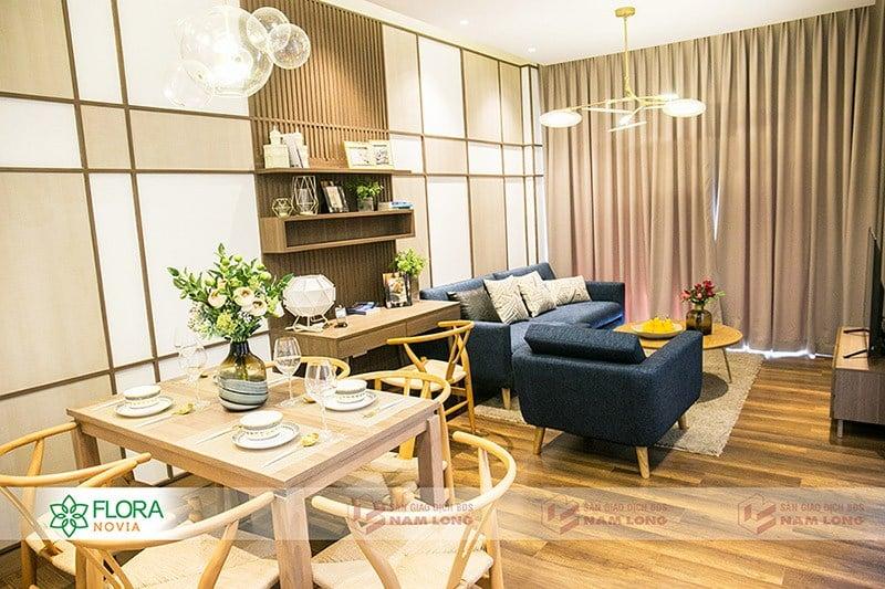 Hình ảnh nhà mẫu căn hộ Flora Novia của Nam Long Group