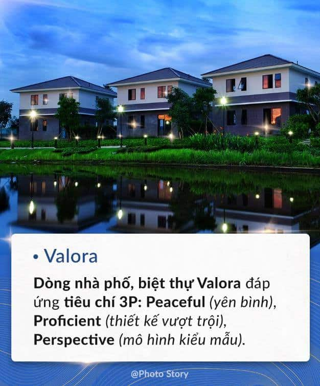 Valora là dòng nhà phố, biệt thực được phát triển bởi Nam Long.