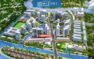 Vị trí khu nhà phố thương mại Valora trong khu đô thị Mizuki Park.