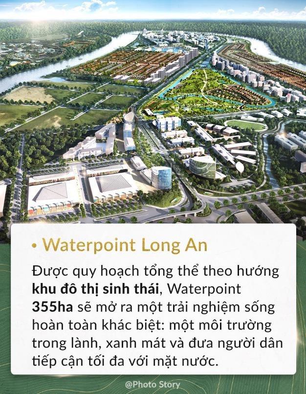 Khu đô thị sinh thái Waterpoint Long An với hơn 355ha tại Bến Lức, Long An.