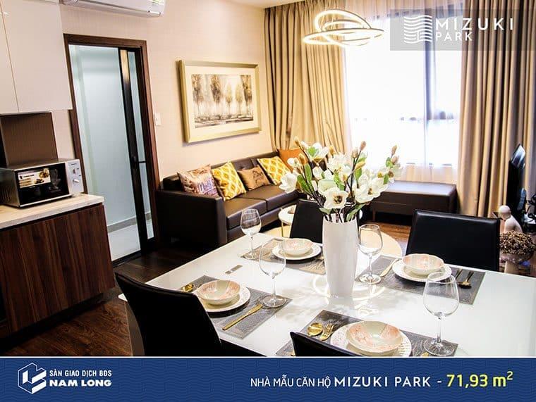 Không gian sống đáng mơ ước của căn hộ Flora Mizuki.