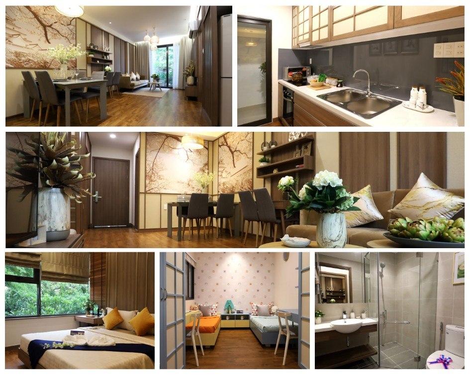 Phiên bản căn hộ Flora Akari diện tích 75m 2 thiết kế 2 phòng ngủ - 2WC