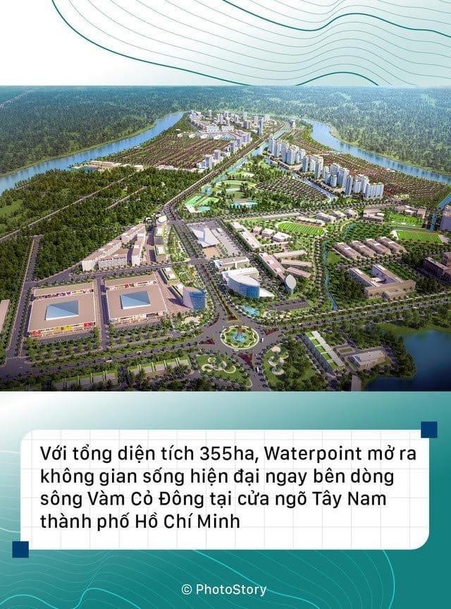 Thành phố bên sông Waterpoint mang đến cảnh quang và hệ thống tiện ích chất lượng.