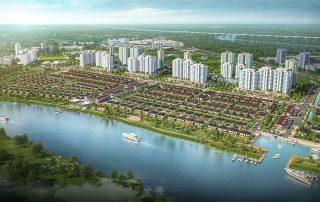 Khu đô thị Waterpoint được dòng sông Vàm Cỏ Đông giành gần 6km bao bọc cho dự án.