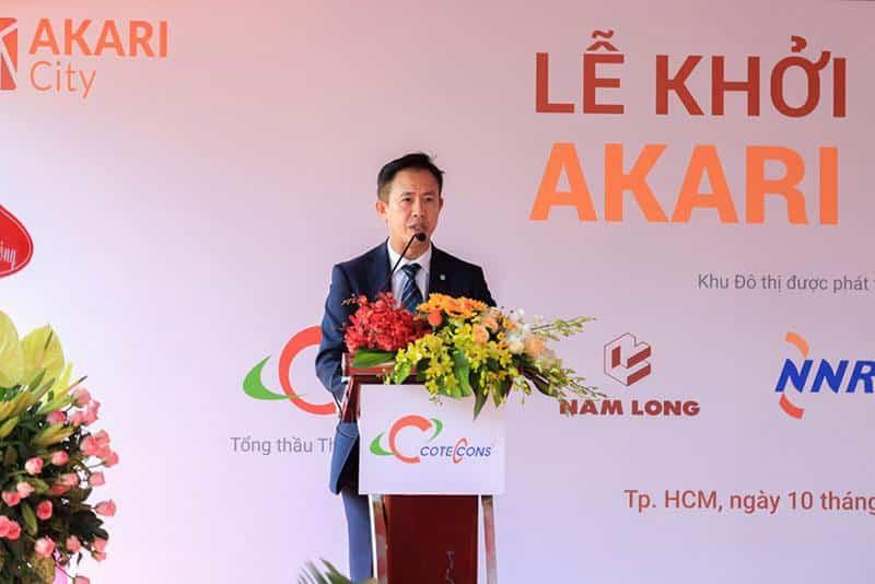 Ông Steven Chu Chee Kwang - Tổng giám đốc Tập đoàn Nam Long phát biểu tại buổi lễ