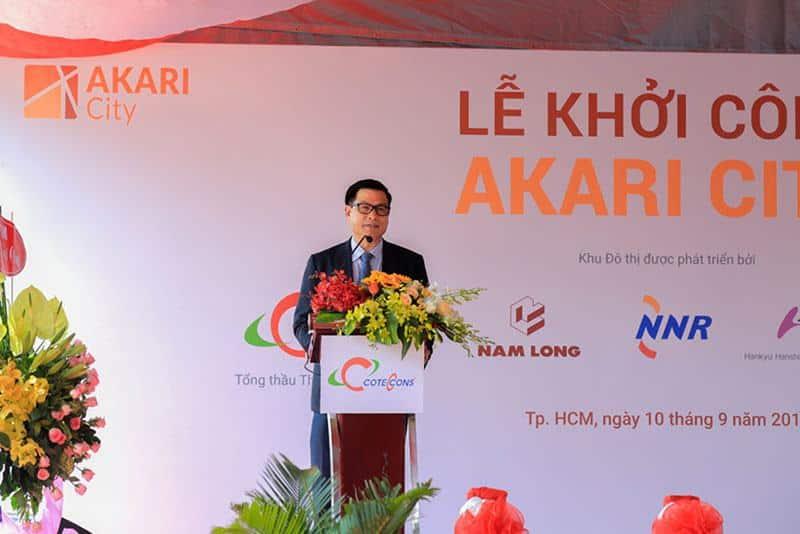 Ông Nguyễn Bá Dương - Chủ tịch Coteccons phát biểu tại buổi lễ