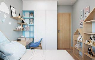 Phòng ngủ nhỏ nhà phố vườn Waterpoint.