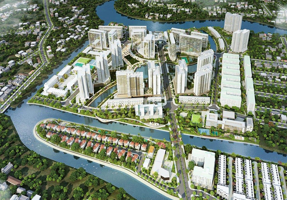 Phối cảnh dự án Mizuki Park được phát triển bởi Nam Long tại Bình Chánh.
