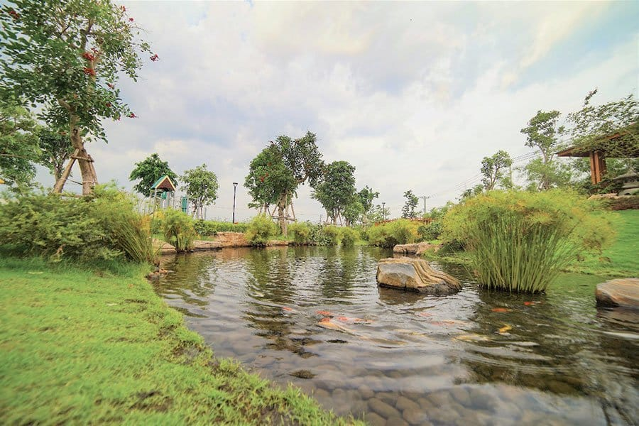 Một mảng công viên sông nước đã hoàn thành tại Waterpoint.