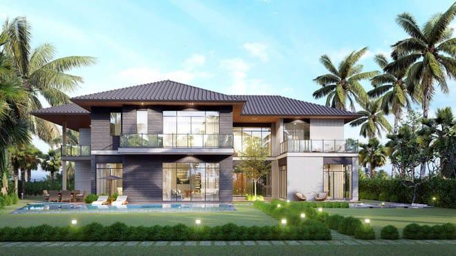 Riverfront Grand Villa giao hoà với thiên nhiên, giúp chủ nhân tận hưởng cuộc sống thư thái, tiện nghi.