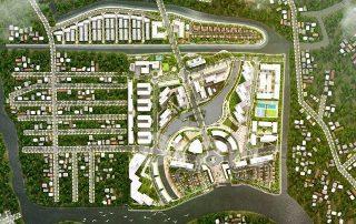 Quy hoạch tổng thể dự kiến khu đô thị Mizuki Park - 26ha