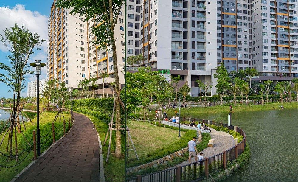 Đường dạo bộ tại Mizuki Park.